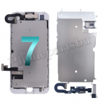 FULL LCD Screen Display with Touch Digitizer Panel and Frame,Front Camera,Earpiece Speaker & Proximity Sensor Flex Cable for iPhone 7 (4.7 inches) (Generic Plus) - White PH-LCD-IP-00074WHP